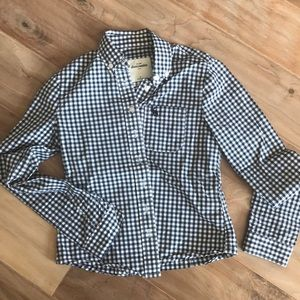 Abercrombie Kids Blue and White check shirt